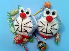 Monedero Doraemon (Crochet, Ganchillo)