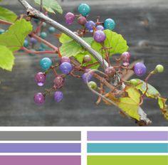 Color Combination: Purple/Aqua/Green/Blues for girls bedroom