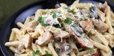 Νόστιμες και γρήγορες Πένες με κοτόπουλο, μανιτάρια και κρέμα τυριού
