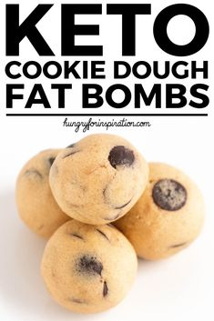 Cookie Dough Keto Fat Bombs - an incredibly easy Keto Snack that you can make in 10 minutes! Only 1g net carbs per ball, gluten-free & sugar-free! #keto #ketorecipes #ketodessert #ketosnacks    #lowcarbrecipes #lowcarbdesserts #lowcarbsnacks #cookiedough