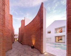 sala resort thailand design marble tile pool villas red brick - Row House