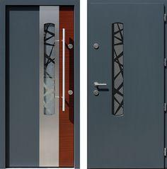 Drzwi wejściowe z kolekcji INOX model 446,1-446,11+ds1 produkcji AFB-Kraków