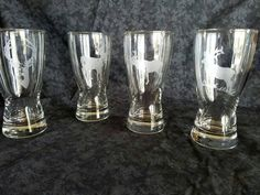 Check out this item in my Etsy shop https://www.etsy.com/listing/400272147/set-of-4-mini-pilsner-glasses-etched