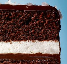 It may look like a giant lunch-box treat, but an ultra-smooth ganache and a final flourish of crunchy sea salt make this one elegant cake.