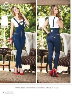 "Fashionable Butt lifting  levantacola Jumpsuit  high waist skinny jeansImported from Colombiastretchable materialButt Lift - Levantacola REF AG252size usa 1-2  waist 24-26""    hips  32-34""Size Usa 3-4  waist  26"" -29""  Hips 34"" to 36""Also available in size -1-3-5-7-9-11"