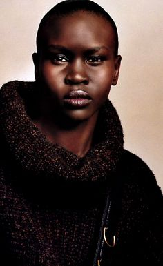 I thought she was cool toned but here she looks warm. BTW, Alek Wek's bio, Alek: My Life from Sudanese Refugee to International Supermodel, is a fabulous read. Very inspiring