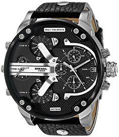 Diesel Men's DZ7313 Mr Daddy 2.0 Analog Display Analog Quartz Black Watch   Smart Pinner