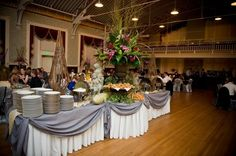 buffet setup   Buffet set up at Armory   Wedding Planning