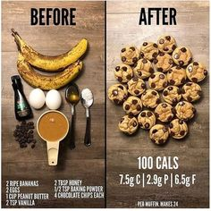 Bake at 400 for 8 minutes Yum yum All I need is chocolate chips 🍪 Healthy Sweets, Healthy Baking, Recipes With Bananas Healthy, Healthy Food, Healthy Snack Recipes, Healthy Sweet Snacks, Healthy Filling Snacks, Fast Healthy Recipe, Low Calorie Snacks Sweet