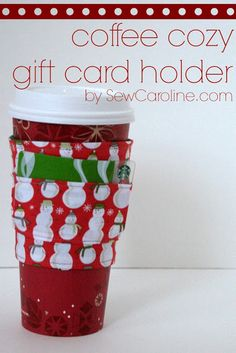 Sew it: Coffee Cozy Gift Card Holder - Create - Rags to Stitches