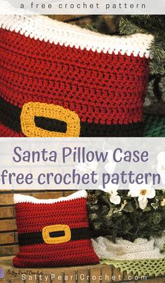 If you're as excited for the holidays as I am, you're already making decorations! Get this adorable and free Christmas crochet pattern from Salty Pearl Crochet. Christmas Crochet Blanket, Crochet Santa, Crochet Christmas Decorations, Crochet Christmas Ornaments, Crochet Snowflakes, Christmas Knitting, Crochet Gifts, Crochet Angels, Christmas Bells
