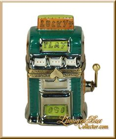 Lucky Slot Machine Limoges Box by Beauchamp