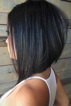 Image result for lowlights for med bob dark hair