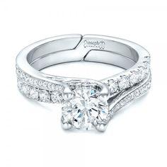Custom Blue Sapphire and Diamond Engagement Ring #102070