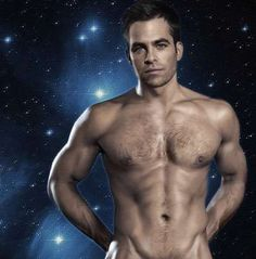 Chris Pine in Shirtless Pose I hadn't really planned on pinning so much skin on here but......yea....Lol