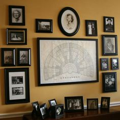Composing a family tree is an interesting study on heritage, personal history, and family structure. The hard work that goes into such research can be rewarding and beautiful. Here, a few ideas for displays inspired by family trees: