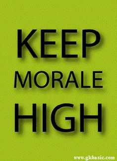 Morale has an individual as well as a group or institution aspect