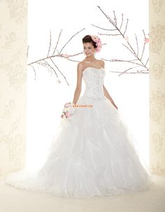 Hall Pánt nélküli  Ujjatlan Menyasszonyi ruhák 2015