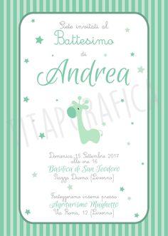 Baptism Invitations, Digital Invitations, Custom Invitations, Nursery Art, Christening, Giraffe, Shower Ideas, Scrapbooking, Baby Shower