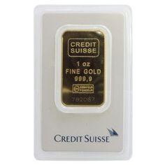 1oz Credit Suisse Gold Wafer Bar