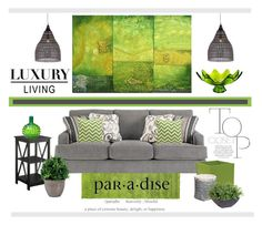 """""""A day in the Green"""" by cldesign ❤ liked on Polyvore featuring interior, interiors, interior design, home, home decor, interior decorating, Designers Guild, Dot & Bo, Convenience Concepts and Loll Designs"""