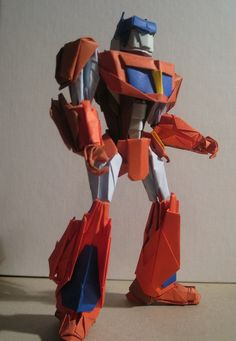 Optimus Prime....made out of paper