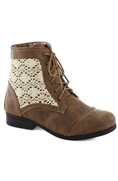 Ankle Boots: Lace Detail