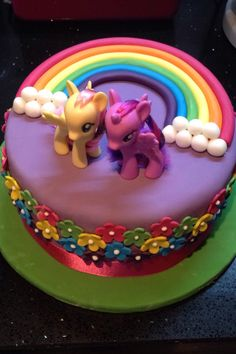 My Little Pony cake for S More (birthday cake making)
