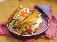 Cheddar Cheese Taco Shells  ~ That's right, the shells are made of cheese, no corn or flour! Gluten Free.. (Recipe courtesy of The Kitchen Show)