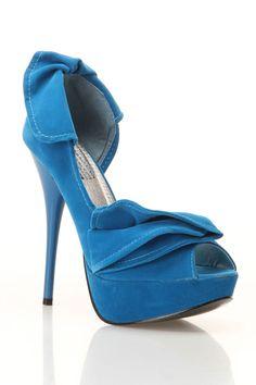 Dressed Up Blue Heels.