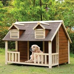 Large Log Cabin Dog House      Great deal .Check it out >>>>>   http://amzn.to/28S3XUA