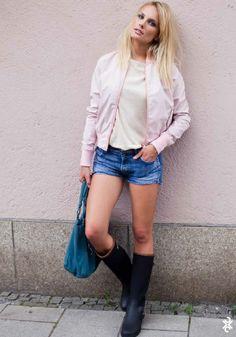short jacket pink