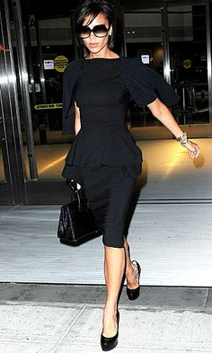 Victoria Beckam-a little black dress, a little black sweater...she has an incredible eye for design and style...
