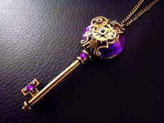 'Alchemy'  Antiqued Bronze steampunk skeleton key necklace