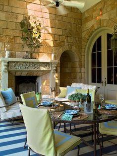 blue green mediterranean decor | Designers' Portfolio