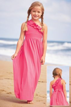From CWDkids: Ruffle Shoulder Maxi Dress