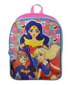 b80e34d0f72b DC COMICS Pink   Blue DC Comics Superhero Girls Backpack. Dc Super Hero  GirlsDc Comics SuperheroesGirl BackpacksPink BlueLunch BagsBrooklyn