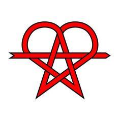 "pentgram + heart + anarchy symbol = the ""erostar"" - NakedGeometry"