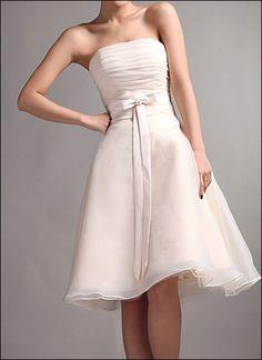 Knielanges+Korsage+Brautkleid+für+Standesamt+von+LAFANTA+Abend-+und+Brautmode+auf+DaWanda.com