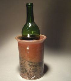 Wine Chiller in Red And Temmoku Glaze by Jon Whitney Pottery, $27