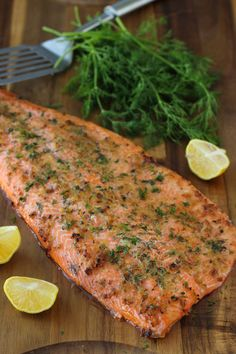 Baked Steelhead Trout Fillet- I omitted the dill and just added dried parsley otherwise made it just like the recipe. It was delicious!