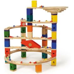 This toy requires thinking logically through a process to build a structure for marbles to reach their destination. Your More Serious Type 4 Child could spend quite a bit of time perfecting the structures they create.  |  Quadrilla Twist & Rail