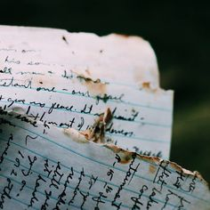 Frantically she leafed through her brother's things until she came to the letters. All torn, their edges burnt. She swallowed hard. This would be a challenge.