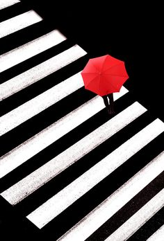 Kamal Berlin by Kjeld Agerskov on Red, white, black Contrast Photography, Line Photography, Minimal Photography, Creative Photography, Street Photography, Red Umbrella, Under My Umbrella, Umbrella Girl, Elements And Principles