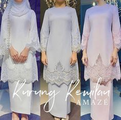 My definition of love at first sight. It's classic, elegant and modest. They said beautiful things don't ask for attention, but this one is definitely a scene stealer! ❤️ - Thank you for your amazing creations 🙏🏻 - Muslimah Wedding Dress, Muslim Wedding Dresses, Wedding Hijab, Dream Wedding Dresses, Wedding Attire, Bridal Dresses, Bridesmaid Dresses, Muslim Dress, Malay Wedding Dress