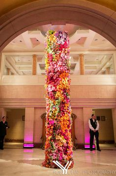 Wedding Flower Inspo: Flower Towers #InStyle
