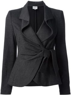 Armani Knotted Skirt Suit - absolute NEED! I love this jacket!!! Would definitely wear it with pants though.