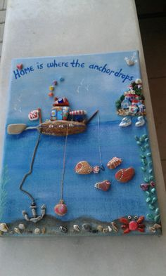 Home is where the anchor drops Painted stones art By @alice.in.wondercrafts