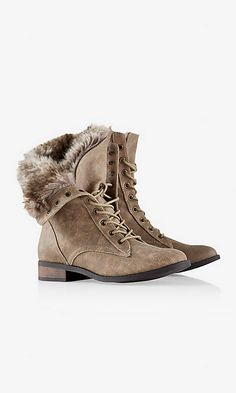 FAUX FUR LINED CONVERTIBLE COMMANDER BOOT | Express