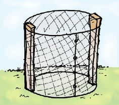 How to build an easy compost bin from chicken wire.